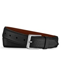 Shinola Bombe Leather Tab Belt Black