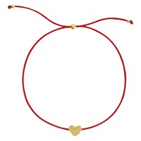 Sophie By Sophie Heart Cord Friendship Bracelet Gold Red