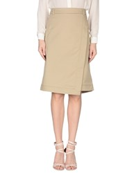 Marella Skirts Knee Length Skirts Women Beige