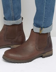 Red Tape Leather Chelsea Boots Brown