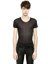 Ann Demeulemeester Sheer Cotton And Modal S T Shirt