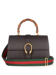 Gucci Dionysus Bamboo Handle Leather Tote Black