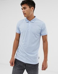 French Connection Plain Polo Shirt Blue