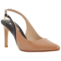 Dune Camelia Toe Pointed Stiletto Heeled Courts Taupe