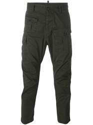 Dsquared2 Cargo Cropped Trousers Green
