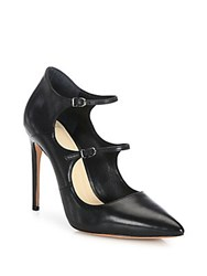 Alexandre Birman Leather Mary Jane Point Toe Pumps Black