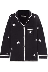 Chinti And Parker Star Cashmere Pajama Top Navy