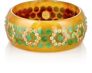 Mark Davis Women's Bakelite And Gemstone Bangle Colorless