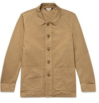 Aspesi Garment Dyed Cotton Twill Shirt Jacket Camel