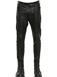 Julius Nappa Leather And Cotton Drill Pants