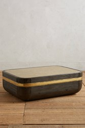 Anthropologie Metallic Mosaic Coffee Table Gold