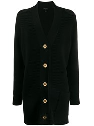 Escada Ribbed Knit Buttoned Cardigan 60