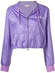 Natasha Zinko Cropped Jogging Jacket Purple