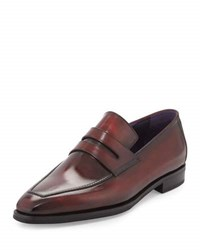 Berluti Andy Burnished Leather Loafer Red