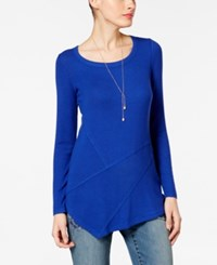 Inc International Concepts Ribbed Asymmetrical Tunic Only At Macy's Goddess Blue