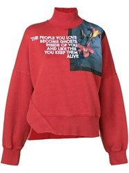 Each X Other Floral Print Sweatshirt Red