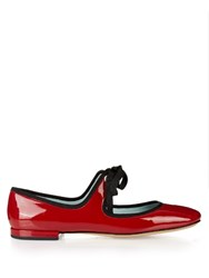 Marc Jacobs Lisa Patent Leather Ballet Flats Red