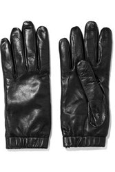 Iris And Ink Carrie Leather Gloves Black