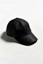 Urban Outfitters Uo Pleather Baseball Hat Black