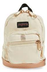 Jansport Right Pouch Mini Backpack Beige Isabella Pineapple