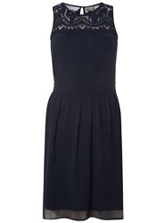 Dorothy Perkins Vero Moda Navy Sleeveless Short Skater Dress