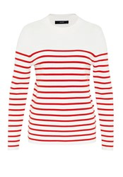 Hallhuber Striped Jumper Red