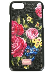Dolce And Gabbana Printed Phone Case Black
