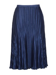 Cutie Silky Pleated Skirt Navy