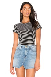 Project Social T Lainey Striped Rib Tee Black And White