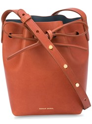 Mansur Gavriel Mini Mini Bucket Bag Brown
