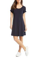 Karen Kane Cold Shoulder Swing Dress Navy