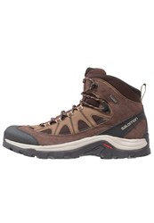 Salomon Authentic Gtx Walking Boots Black Coffee Chocolate Brown Vintage Khaki