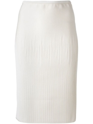 Maison Ullens Pencil Skirt White