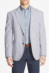 Kroon Classic Fit Seersucker Sport Coat Blue