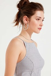 Urban Outfitters Uo Romy Checked Out Cropped Tank Top Blue Multi