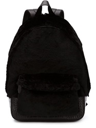 Alexander Wang Crocodile Skin Effect Backpack Black