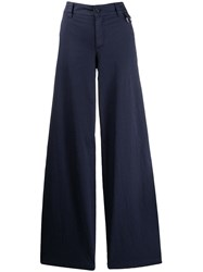 Red Valentino Wide Leg Flared Trousers Blue