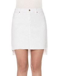 Joe's Jeans Hi Lo Pencil Skirt Field White