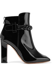 Valentino Patent Leather Ankle Boots Black