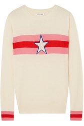 Chinti And Parker Star Crossed Intarsia Cashmere Sweater Cream