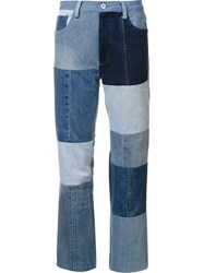 Y's Patchwork Woodstock Jeans Blue