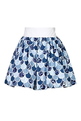 Olympia Le Tan Cotton Fish Scale Skirt