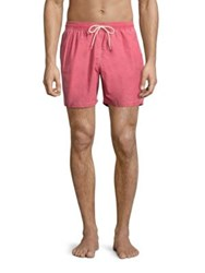 Barbour Victor Cotton Blend Swim Shorts Red
