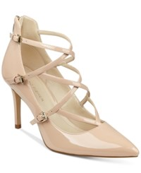 Marc Fisher Danger Strappy Pumps Women's Shoes Light Natural