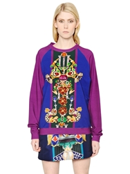 Mary Katrantzou Corona Printed Heavy Cotton Sweatshirt Multi