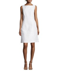 Lafayette 148 New York Jojo Cotton And Silk Jacquard Dress White
