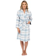 Jockey Flannel Robe Dizzy Plaid Women's Robe Blue