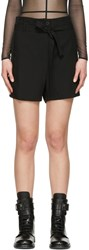 Ann Demeulemeester Black Belted Shorts
