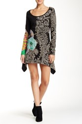 Desigual Embroidered Dress Black