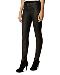 Karen Millen Coated Skinny Jeans In Black